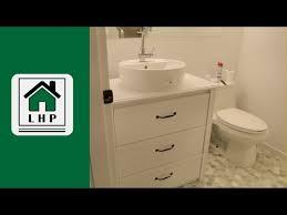 ikea dresser to bathroom vanity diy