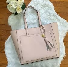 cole haan pink peach blush leather natalie tote nwt with dust bag