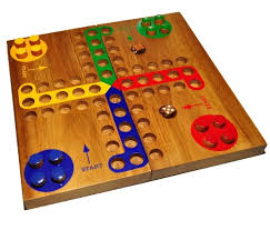 Wooden Ludo Board Game Amazon Wooden Ludo Large Toys Games 2
