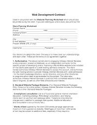 Development Agreement Contract Web Development Contract Web Development Contract Used in by 1