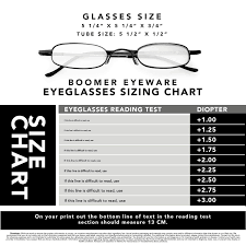Reading Glasses Size Chart Boomer Eyeware Extra Pair Of Deluxe Tube Readers High Quality Pocket Reading Glasses For Men Women 1 50 Assorted Colors 3 Pack