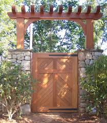 Small Picture build a gate arbor Custom Wood Pedestrian Gate with Custom Wood