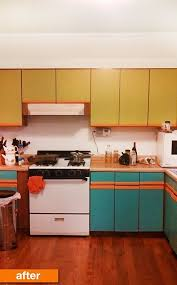 particle board kitchen cabinets before after plain particleboard cabinets get a cheery spring
