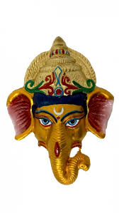indian handmade metal craft lord ganesha wall decor art hand painted sculpture by insoul