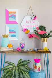 hello summer diy tropical decor ideas