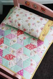 Best 25+ Diamond quilt ideas on Pinterest   Baby quilt patterns ... & The sweetest doll bed.Plain IKEA doll bed, painted and added decals, then  handmade diamond pattern quilt and matching pillowcase - PERFECTION! Adamdwight.com