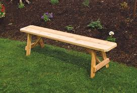 red cedar traditional backless bench
