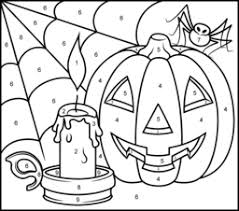 Enjoy this color by number for valentine's day. Halloween Coloring Pages