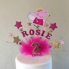 Fairy Peppa Pig Princess Peppa Birthday Cake Topper