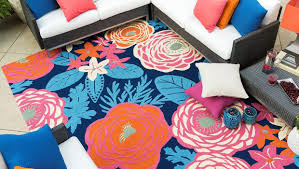 blue orange and pink indoor outdoor area rug
