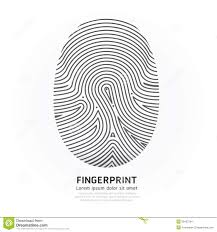 Fingerprint Design Fingerprint Color Vector Design Illustration Stock Vector