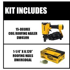 degree coil roofing nailer w