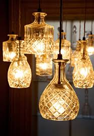 Decanters catch the light in interesting ways ... but rather than hide them  in a liquor cabinet or on a shelf, you can accentuate that light with this  ...