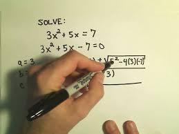 solving quadratic equations using the quadratic formula example 3