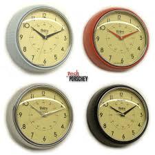 Retro Kitchen Wall Clocks Large Red Kitchen Wall Clocks 07275220170508 Ponyiexnet