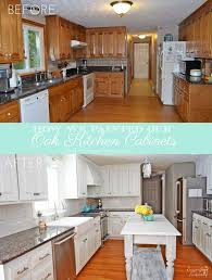 Contemporary Painting Oak Kitchen Cabinets White To Design Decorating