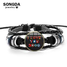 SONGDA 2019 <b>New Hot</b> I Love You 3000 Times Leather Bracelet ...