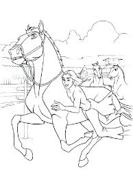 spirit horse coloring pages free printable and rain color