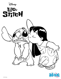 Small Picture Lilo and stitch kiss coloring pages Hellokidscom