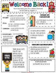 Monthly Newsletter Template For Teachers Teacher Newsletter Examples Rome Fontanacountryinn Com