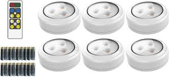 Magic Living Led Push Light Brilliant Evolution Wireless Led Puck Light 6 Pack With Remote Control Led Under Cabinet Lighting Closet Light Battery Powered Lights Under