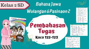 Rief awa dengan gambar tema kelas sekolah dasar belajar. Bahasa Jawa Kelas 2 Sd Wulangan 6 Pasinaon 2 Pembahasan Tugas Hal 122 123 Tantri Basa Youtube