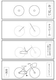 これを見ればあなたも簡単に自転車の絵が描けるwww 話題の画像プラス
