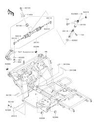 2015 kawasaki mule 610 4x4 xc kaf400dff frame parts best oem frame parts diagram for