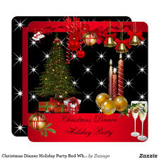 christmas dinner holiday party red white card christmas christmas dinner holiday party red white 2 card