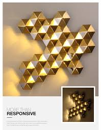 Light Write Lighting Design Us 398 94 43 Off Luxury Honeycomb Nest Design Gold Led Wall Lamp 20 Light Mirror Steel Luminaria Wall Scones Hotel Mall Led Lighting Lamparas In Led
