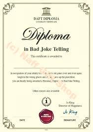 Bad In Certificate Telling Joke
