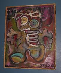 560x679 one of a kind original voodoo doll painting with customer designed voodoo doll painting