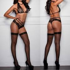 Crotchless lingerie and women