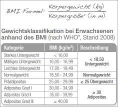 BMI -Berechung ( body mass index )