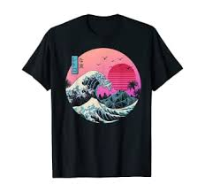 The Great Retro Wave T-Shirt: Clothing - Amazon.com