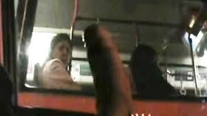 Cum on girl in public transport