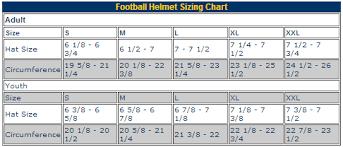 52 Judicious Football Helmet Sizing Chart