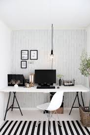 black white in the office striped rug