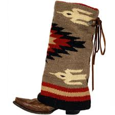 womens taupe cream and red aztec boot rugs