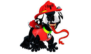 Small Picture Paw Patrol Venom Marshall Coloring Pages for Kids Venom Paw