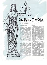 ONE MAN V. THE ODDS: Attorney Alan Rossman is the last resort for Ohi…