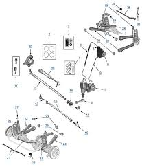 tj wrangler suspension and steering 4 wheel parts 1998 jeep wrangler under hood fuse box diagram 98 Wrangler Fuse Box Diagram #45