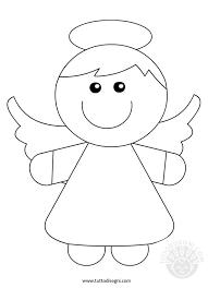 Disegni Per Bambini Da Colorare Angelo Tuttodisegnicom