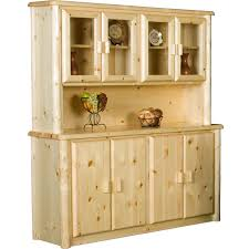 rustic hutch dining room: this beautiful dining room northwoods rustic log buffet with hutch