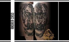 Tigre Realistica Black And Grey Sul Braccio Andrea Caso Tattooing