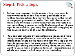 Steps In Making A Research Paper