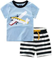 Evelin LEE Baby Boy Short Sleeve T-Shirts and Stripe ... - Amazon.com