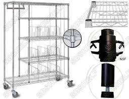 the wire shelving unit is simply structured with post and wire shelves the surface can be chrome powder coating colors can be customized