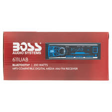 boss audio 611uab single din in dash mechless am fm receiver boss audio 611uab single din in dash mechless am fm receiver bluetooth walmart com