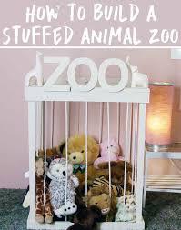 DIY zoo for stuffed animals
